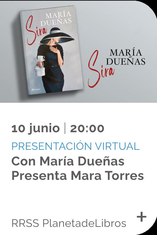 Junio 2021 - Evento - Presentación virtual Sira de Maria Dueñas